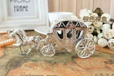 Free shipping sillver metal carriage box , wedding candy box , weding gift case, chocolate box . XHXP1-1  65pcs/lot $125.00
