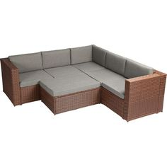 Found it at Wayfair - Complete Patio PE Wicker Rattan Garden 4 Piece Deep Seating Group Set with Cushions