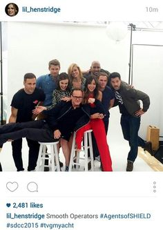 This cast though! <3 Agents of S.H.I.E.L.D! #Marvel! <3