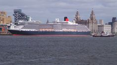 The Queen Victoria getting ready to Leave the Mersey River