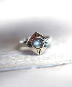 Sterling Silver & Authentic Moonstone Medicine Wheel Ring by Bahgsu Jewels #zulily #zulilyfinds