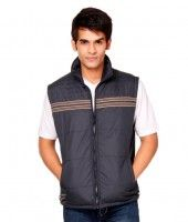 41% OFF! NU9 Navy Sleeveless Zipper Jacket