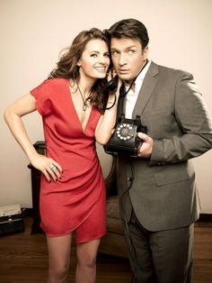 Stana Katic & Nathan Fillion in ABC's Castle #tv #Castle #ABC
