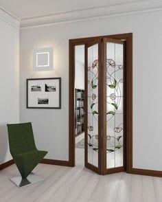 New wooden closet doors interior design 24 Ideas Wooden Glass Door, Wooden Doors, Wooden Closet, Sliding Door Design, Room Partition Designs, Door Design Interior, Pooja Rooms, Folding Doors, House Design