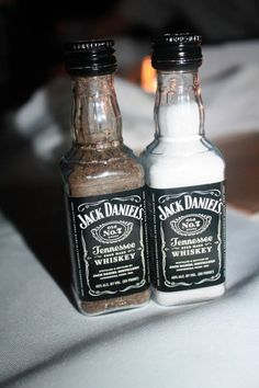 Such a cute idea! College DIY apartment salt and pepper shakers