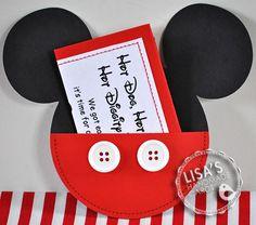 Custom Mickey Mouse Birthday Invitations by LisasHandmadeCards