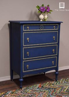 A Gorgeous Dresser Makeover With Nail Head Trim