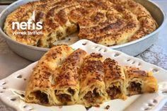 Sodalı Kıymalı Börek Tarifi Apple Pie, Lasagna, French Toast, Breakfast, Ethnic Recipes, Desserts, Food, Spring, Amigurumi