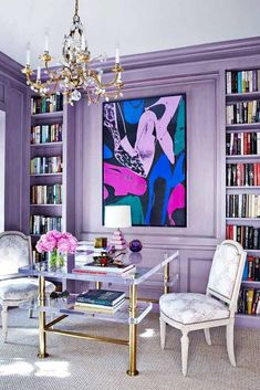Amazing Home Decor In Lilac Color #homedecor #wallcolor Are you a fan of a lilac color? Explore cute things in lilac shades: from fashion to room decor and wallpaper to nails and hair. #lilaccolor #colorinspiration