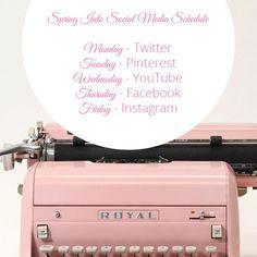 Spring Into Social Media Schedule