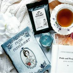 On this day in 1775 Jane Austen was born. We owe her much just like we owe @atasteforbooks much for arranging this beautiful tea moment with Pride and Peppermint. Our loose leaf literature tins would not be possible without Austen or our awesome community of #booksandtea lovers. So today we'll launch a GIVEAWAY to spread some Christmas cheer. Keep an eye on our feed for details. Oh and visit our rep @lisa_lostinlit for her giveaway! So many chances to expand your library. #Novelteatins