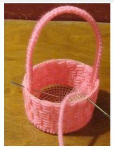 Doll Easter Basket Plastic Canvas Pattern
