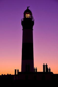 Buchan Ness lighthouse at dusk, Boddam ღPurpleღ November is National Alzheimer's Disease Month