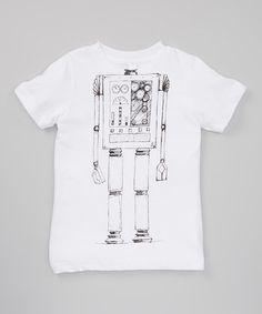 Loving this White Robot Body Tee - Toddler & Kids on #zulily! #zulilyfinds