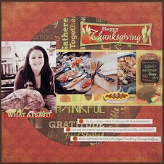 Happy Thanksgiving Layout - Scrapbook.com