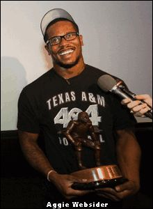 Von Miller!  Received the 2010 Butkus Award aka he's the nation's TOP collegiate linebacker!!  WHOOP!!