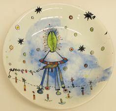 Vanessa Anastasopoulou , 'Volcano' , 36X6cm platter