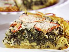 Spinach and Pasta Pie from FoodNetwork.com
