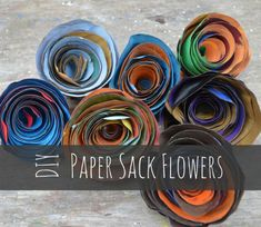 DIY Paper Sack Flowers. These were a huge hit with my summer campers, and could be made elegant enough for wedding decorations!