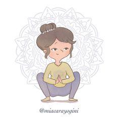 Malasana Pose, Yoga Illustration, Namaste, Squats, Disney Characters, Fictional Characters, Character Design, Mindfulness, Squat