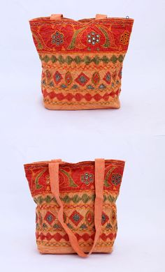 Beautiful embroided and satar work jhola or shoulder bag