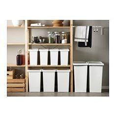FILUR Tonne mit Deckel, weiß - weiß - 28 l - IKEA