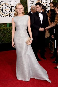 Diane Kruger | All The Looks On The 2015 Golden Globes Red Carpet