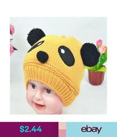 f0eda623b56ed Baby Accessories Cute Baby Girl Boy Toddler Winter Warm Knit Crochet Panda Hat  Cap Beanie J
