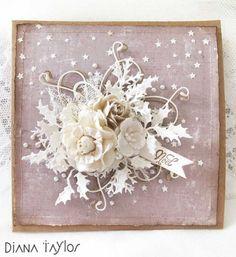 Christmas roses card by Velvet Moth Studio