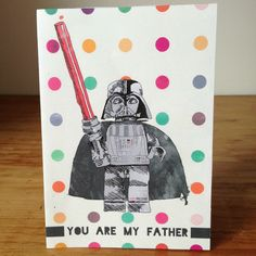 free printable card for a GEEK fathers' day by la belette rose