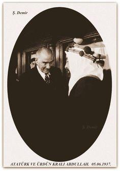 Atatürk ve Ürdün kralı Abdullah. 05.06.1937