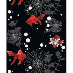 Goldfish Black Wallpaper by Rasch 817508