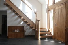 Timber Staircase gallery - beautiful stairs manufactured by StairBox. Timber Staircase, Winding Staircase, New Staircase, Oak Stairs, Staircase Makeover, Wooden Staircases, Wooden Stairs, Modern Staircase, House Stairs