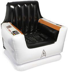 Cadeira Inflável Star Trek - Natal tá chegando... Quem me dá essa de presente? ^.^