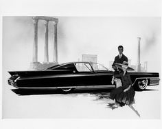 Cadillac sketch by Mark Jordan, circa 1963
