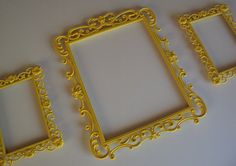 3 vintage inspired open picture frames ornate by heartsncrafts, $69.00