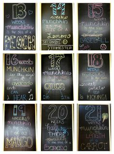 Chalkboard Weekly Pregnancy Updates!  www.littlebabymeiklejohn.blospot.com Maternity Pictures, Pregnancy Photos, Baby Pictures, Weekly Pregnancy, Baby Week By Week, Baby Weeks, Pregnancy Tracker, Baby Samples, Baby E