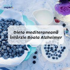 Dieta mediteraneană întârzie Boala Alzheimer.Un studiu recent a demonstrat că este încetinită acumularea de Amiloid beta în creier. Alzheimer, Breakfast, Food, Morning Coffee, Meal, Essen, Hoods, Meals, Morning Breakfast