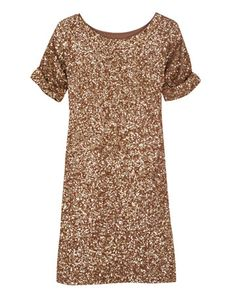 Sequin Jersey Dress Throw on a wide black belt with that and you're ready to rock