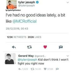 They still love their band? I think that's what matters Emo Band Memes, Mcr Memes, Music Memes, Emo Bands, Music Bands, Twenty One Pilots, Tyler E Josh, Tyler Joseph, Panic! At The Disco