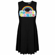 """Nobody Cares"" skater dress from Kate's Clothing"