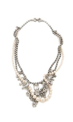 Tom Binns crystal and pearl necklace. In love.