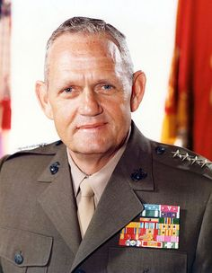 Gen Louis H. Wilson Jr. -  26th Commandant of the Marine Corps and Medal of Honor recipient