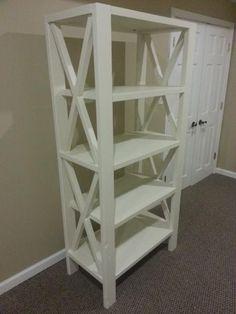X Bookcase DIY
