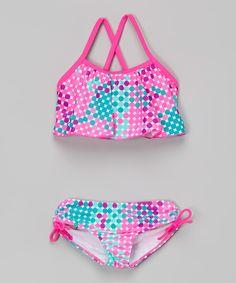Take a look at this Kanu Surf Pink Polka Dot Nikki Bikini - Girls today!