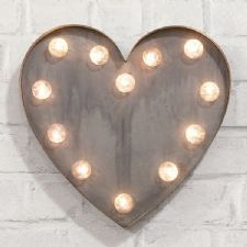 'HEART' Marquee light