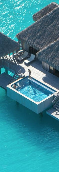 St. Regis, Bora Bora never understood this concept,why the pool when you have all that sea........