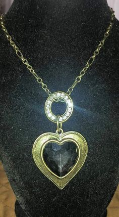 Black Heart Necklace $25.00