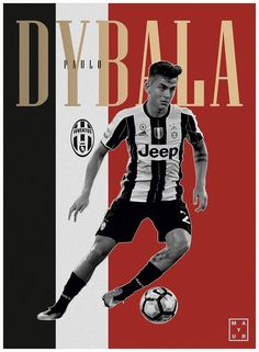 dybala poster design juventus football