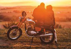 Bike Birthday Parties, Dirt Bike Birthday, Vintage Cycles, Vintage Bikes, Gopro, Jawa 350, Biker Couple, Dirt Bike Helmets, Bike Photography